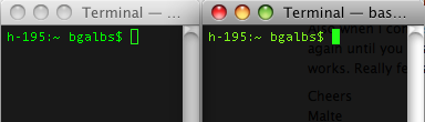 Terminal's Different Colors?