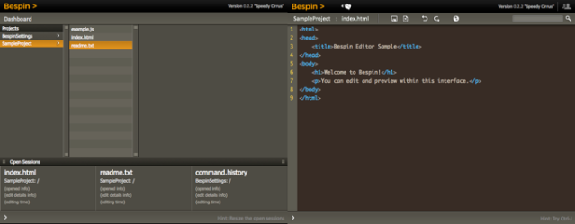 Dashboard and Editor