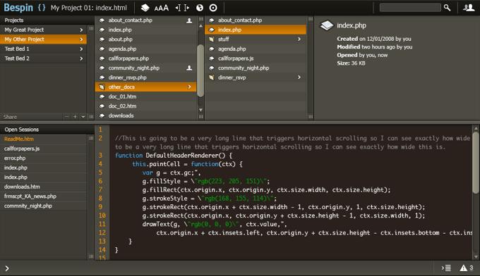 Dashboard in Editor